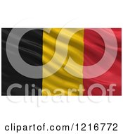Clipart Of A 3d Waving Flag Of Belgium With Rippled Fabric Royalty Free Illustration