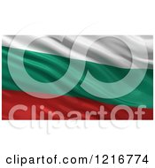 Clipart Of A 3d Waving Flag Of Bulgaria With Rippled Fabric Royalty Free Illustration