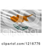 Clipart Of A 3d Waving Flag Of Cyprus With Rippled Fabric Royalty Free Illustration