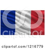 3d Waving Flag Of France With Rippled Fabric by stockillustrations