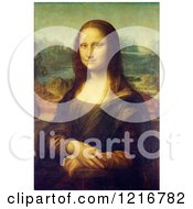 Clipart Of The Mona Lisa Oil On Poplar Painting Originally By Leonardo Da Vinci Royalty Free Illustration by Picsburg