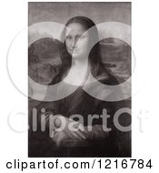 Sepia Toned Mona Lisa Oil On Poplar Painting Originally By Leonardo Da Vinci