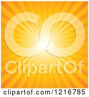 Clipart Of A Background Of Bright Sun Rays In Orange Royalty Free Vector Illustration by Pushkin