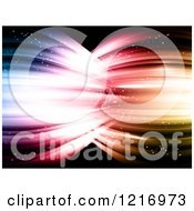 Clipart Of Waves Of Bright Light Flowing Into Each Other Royalty Free Vector Illustration by KJ Pargeter