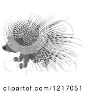 Clipart Of A Cute Airbrushed Porcupine Royalty Free Illustration by Alex Bannykh