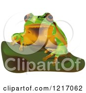 Clipart Of A European Tree Frog Royalty Free Vector Illustration by dero