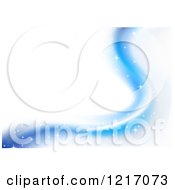 Clipart Of A Background Of Blue Sparkly Waves On White Royalty Free Vector Illustration