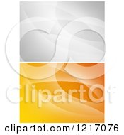 Clipart Of Grayscale And Orange Backgrounds Royalty Free Vector Illustration