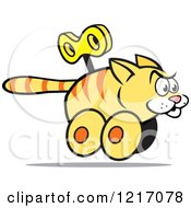 Clipart Of A Wind Up Cat Royalty Free Vector Illustration