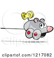Clipart Of A Wind Up Mouse Royalty Free Vector Illustration