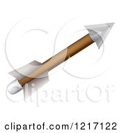 Clipart Of An Archery Arrow With Feather Fletchings Royalty Free Vector Illustration by AtStockIllustration