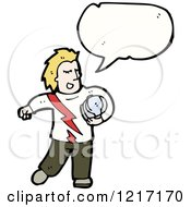 Cartoon Of A Racer With A Helmet Royalty Free Vector Illustration by lineartestpilot