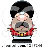 Clipart Of A Scared Disco Man Royalty Free Vector Illustration by Cory Thoman