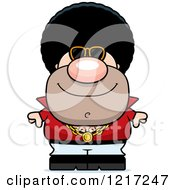 Clipart Of A Cool Disco Man Wearing Sunglasses Royalty Free Vector Illustration by Cory Thoman