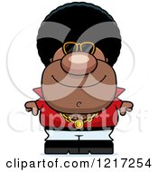 Clipart Of A Cool Black Disco Man Wearing Sunglasses Royalty Free Vector Illustration by Cory Thoman