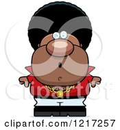 Clipart Of A Surprised Black Disco Man Royalty Free Vector Illustration by Cory Thoman