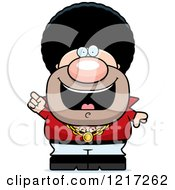 Clipart Of A Disco Man With An Idea Royalty Free Vector Illustration by Cory Thoman