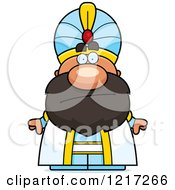 Clipart Of A Bored Sultan Royalty Free Vector Illustration by Cory Thoman