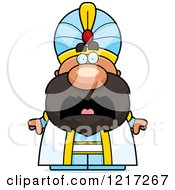 Clipart Of A Scared Sultan Royalty Free Vector Illustration by Cory Thoman
