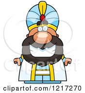 Clipart Of A Happy Grinning Sultan Royalty Free Vector Illustration by Cory Thoman