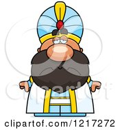 Clipart Of A Depressed Sultan Royalty Free Vector Illustration by Cory Thoman