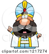 Clipart Of A Smart Sultan With An Idea Royalty Free Vector Illustration by Cory Thoman
