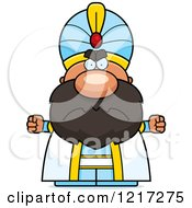 Clipart Of A Mad Sultan Royalty Free Vector Illustration by Cory Thoman