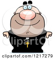 Clipart Of A Happy Priest Royalty Free Vector Illustration
