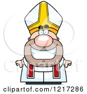 Clipart Of A Happy Grinning Pope Royalty Free Vector Illustration by Cory Thoman