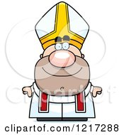 Clipart Of A Happy Pope Royalty Free Vector Illustration by Cory Thoman