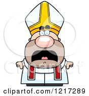Clipart Of A Scared Pope Royalty Free Vector Illustration by Cory Thoman
