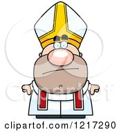 Clipart Of A Bored Pope Royalty Free Vector Illustration by Cory Thoman