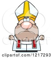 Clipart Of A Mad Pope Royalty Free Vector Illustration