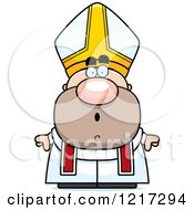 Clipart Of A Surprised Pope Royalty Free Vector Illustration
