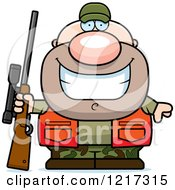 Clipart Of A Happy Grinning Hunter Man Royalty Free Vector Illustration by Cory Thoman