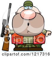 Clipart Of A Surprised Hunter Man Royalty Free Vector Illustration by Cory Thoman