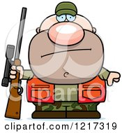 Clipart Of A Bored Hunter Man Royalty Free Vector Illustration by Cory Thoman