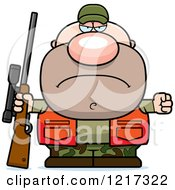 Clipart Of A Mad Hunter Man Royalty Free Vector Illustration by Cory Thoman