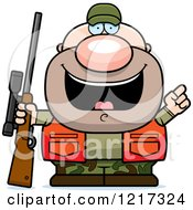 Clipart Of A Hunter Man With An Idea Royalty Free Vector Illustration by Cory Thoman