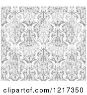 Clipart Of A Grayscale Seamless Islamic Motif Pattern 2 Royalty Free Vector Illustration