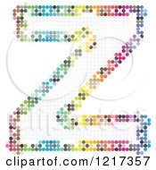 Clipart Of A Colorful Pixelated Capital Letter Z Royalty Free Vector Illustration