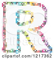 Clipart Of A Colorful Pixelated Capital Letter R Royalty Free Vector Illustration
