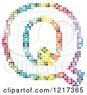 Clipart Of A Colorful Pixelated Capital Letter Q Royalty Free Vector Illustration