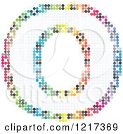 Clipart Of A Colorful Pixelated Capital Letter O Royalty Free Vector Illustration