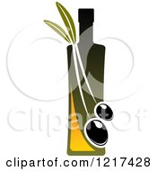 Clipart Of A Bottle Of Extra Virgin Olive Oil 3 Royalty Free Vector Illustration
