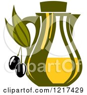 Clipart Of A Bottle Of Extra Virgin Olive Oil 2 Royalty Free Vector Illustration