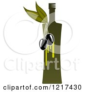 Clipart Of A Bottle Of Extra Virgin Olive Oil Royalty Free Vector Illustration