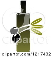 Clipart Of A Bottle Of Extra Virgin Olive Oil 5 Royalty Free Vector Illustration