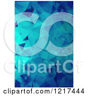 Clipart Of A Blue Geometric Abstract Background Royalty Free Vector Illustration