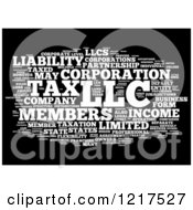 Clipart Of A Black And White Llc Business Word Collage Royalty Free Illustration